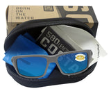 Costa Del Mar Fantail Matte Gray Frame Blue Mirror 580P Plastic Polarized Lens