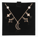 Swarovski symbolic moon necklace black rose-gold 5429737