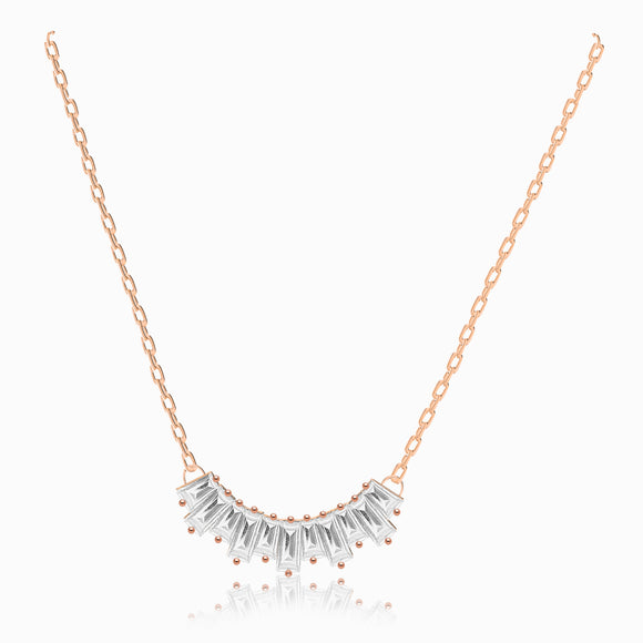 Swarovski sunshine necklace crystals rose gold 5459590