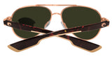 Costa Del Mar Loreto Rose Gold Tortoise Blue Mirror 580G Glass Polarized Lens