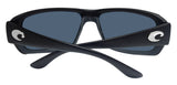 Costa Del Mar Fantail Matte Black Frame Blue Mirror 580P Plastic Polarized Lens