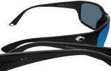 Costa Del Mar Tasman Sea Black Frame Blue Mirror 580P Plastic Polarized Lens