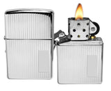 Zippo 350 Engine Turned High Polish Chrome Lighter