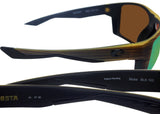 Costa Del Mar Bloke Verde Teak Black Green Mirror 580P Plastic Polarized Lens