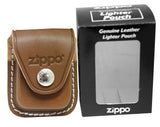 Zippo 29265 Polish Chrome Finish Lighter + LPCB Brown Leather Pouch Clip