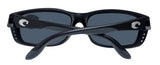 Costa Del Mar Zane Matte Black Frame Blue Mirror 580P Plastic Polarized Lens