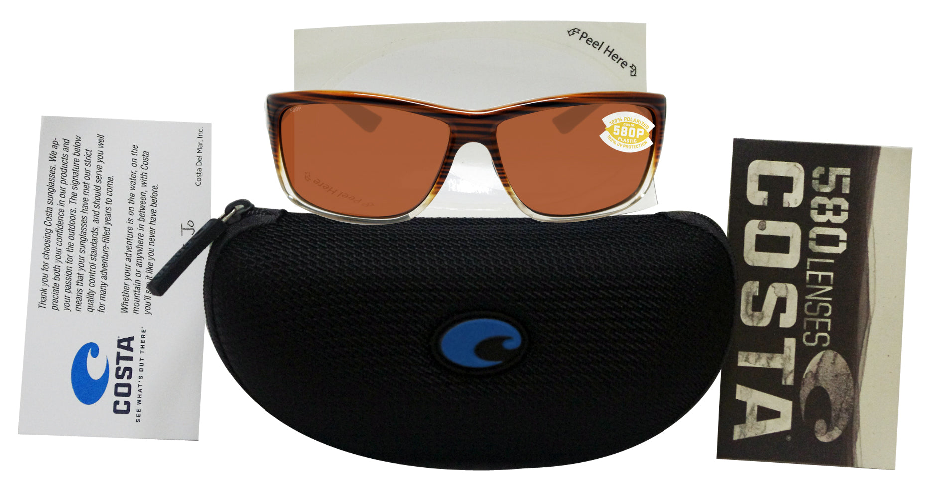 1689c15bb527 ... Costa Del Mar Mag Bay Wood Fade Frame Copper 580P Plastic Polarized Lens  ...