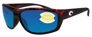 Costa Del Mar Saltbreak Tortoise Frame Blue Mirror 580 Plastic Polarized Lens