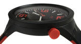 Swatch SO27B102 BB Blood Big Bold Black Red Dial 3D Silicone Band Watch New