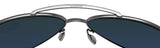 Costa Del Mar Piper Velvet Silver Frame Blue Mirror 580G Glass Polarized Lens