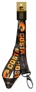 Costa Del Mar LANYARD Mossy Oak NEW ORANGE LOGO retainer LY 230