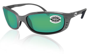 Costa Del Mar Brine Gunmetal Frame Green Mirror 580G Glass Polarized Lens