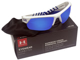 Under Armour 8600051-104361 igniter 2.0 shiny white rubber gray blue lens