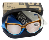 Costa Del Mar Waterwoman Shiny Wahoo Frame Copper Silver Mirror 580 Glass Lens