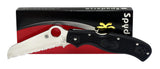 Spyderco C14SBK3 Rescue VG10 Serrated Blade Black FRN Handles Folding Knife NEW