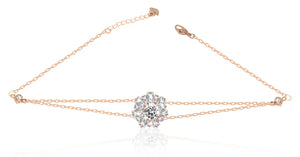 Swarovski sunshine crystal bracelet white rose gold 5451357