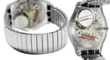 Swatch GM416B Silverall Silver Small Date Dial Stainless Steel Bracelet Watch