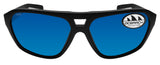 Costa Del Mar Switchfoot Ocearch matte black frame blue mirror 580 glass lens