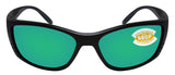 Costa Del Mar Fisch Black Frame Green Mirror 580 Plastic Polarized Lens