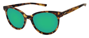 Costa Del Mar Isla Shiny Tortoise Green Mirror 580 Glass Polarized Lens