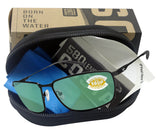Costa Del Mar Turret Matte Black Frame Green Mirror 580P Plastic Polarized Lens