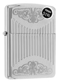 Zippo 29507 Regal Armor Deep Carved High Polish Chrome Finish Lighter New