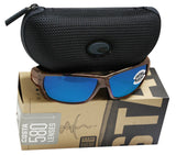Costa Del Mar Tuna Alley Tortoise Frame Blue Mirror 580G Glass Polarized Lens