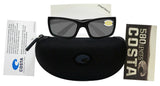 Costa Del Mar Jose Blackout Frame Gray 580P Plastic Polarized Lens