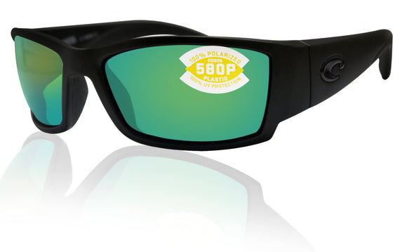 Costa Del Mar Corbina Blackout Frame Green Mirror 580P Plastic Polarized Lens