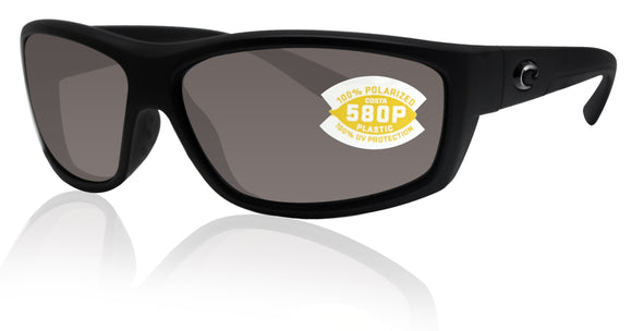 Costa Del Mar Saltbreak Blackout Frame Gray 580P Plastic Polarized Lens