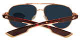 Costa Del Mar Loreto Rose Gold Tortoise Blue Mirror 580P Plastic Polarized Lens