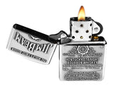 Zippo 250JB.928 Jim Beam Pewter HP Chrome Lighter Spirits Classic Lighter