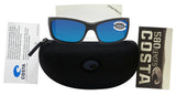 Costa Del Mar Jose Matte Gray Frame Blue Mirror 580G Glass Polarized Lens