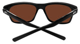 Costa Del Mar Aransas Black Frame Copper Silver Mirror 580 Glass Polarized Lens