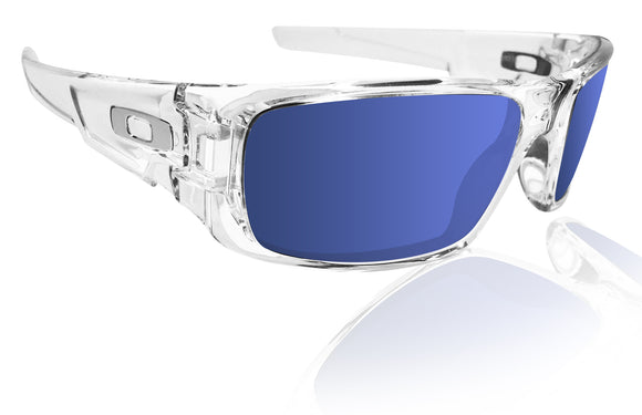 Oakley crankshaft polished clear frame with Ice iridium lens Authentic New OO9239-04