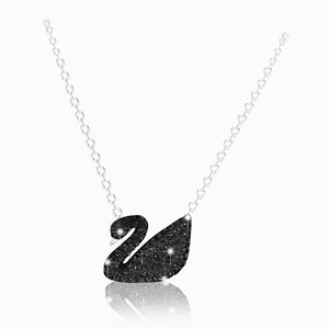 Swarovski iconic swan pendant black rhodium plated 5347329