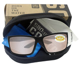 Costa Del Mar Reefton Blackout Copper Silver Mirror 580P Plastic Polarized Lens