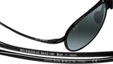 Maui Jim 438-02 Alelele Bridge Black Gloss Frame Neutral Grey Polarized Lens
