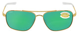 Costa Del Mar Canaveral Gold Frame Green Mirror 580P Plastic Polarized Lens
