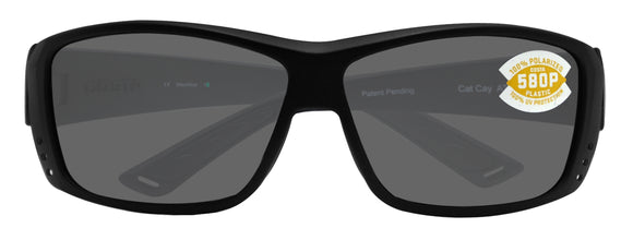 Costa Del Mar Cat Cay Blackout Frame Gray 580P Plastic Polarized Lens