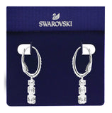 Swarovski attract trilogy round pierced earring white rhodium 5416155
