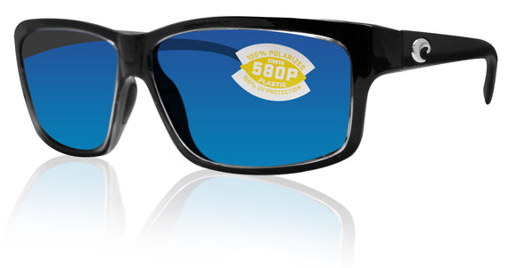 Costa Del Mar Cut Squall Frame Blue Mirror 580P Plastic Polarized Lens