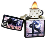 Zippo 29474 Black Matte Finish Lighter + LPCB Brown Leather Pouch Clip