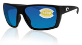 Costa Del Mar Hamlin Matte Black Frame Blue Mirror 580P Plastic Polarized Lens