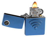 Zippo 29716 WiFi Stamp 3D Design Cerulean Blue Finish Windproof Pocket Lighter