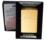 Zippo 254 Solid Brass High Polish Windproof Classic Lighter