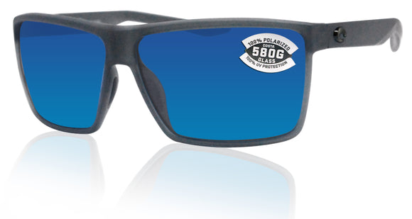 Costa Del Mar Rincon Matte Smoke Crystal Frame Blue 580 Glass Polarized Lens