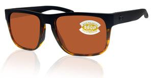 Costa Del Mar Spearo Black Shiny Tortoise Copper 580 Plastic Polarized Lens
