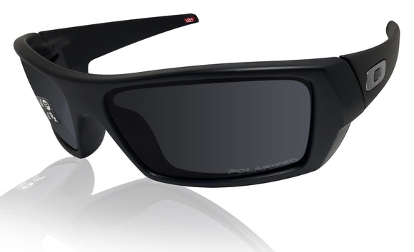 Oakley Gascan Matte Black Frame Black Iridium Polarized Sunglasses 0OO9014