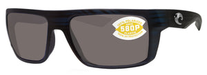 Costa Del Mar Motu Black Teak Frame Gray 580P Plastic Polarized Lens